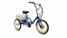 Fold and Go Three Speed Electric Deluxe Folding Trike - TBFGTSBLDLX