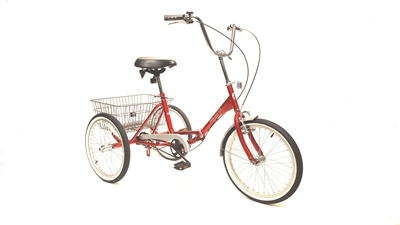 Fold and Go Three Speed Folding Trike True Bicycle, Fold and Go, Three Speed, Folding, Trike, Special Needs, Tricycle