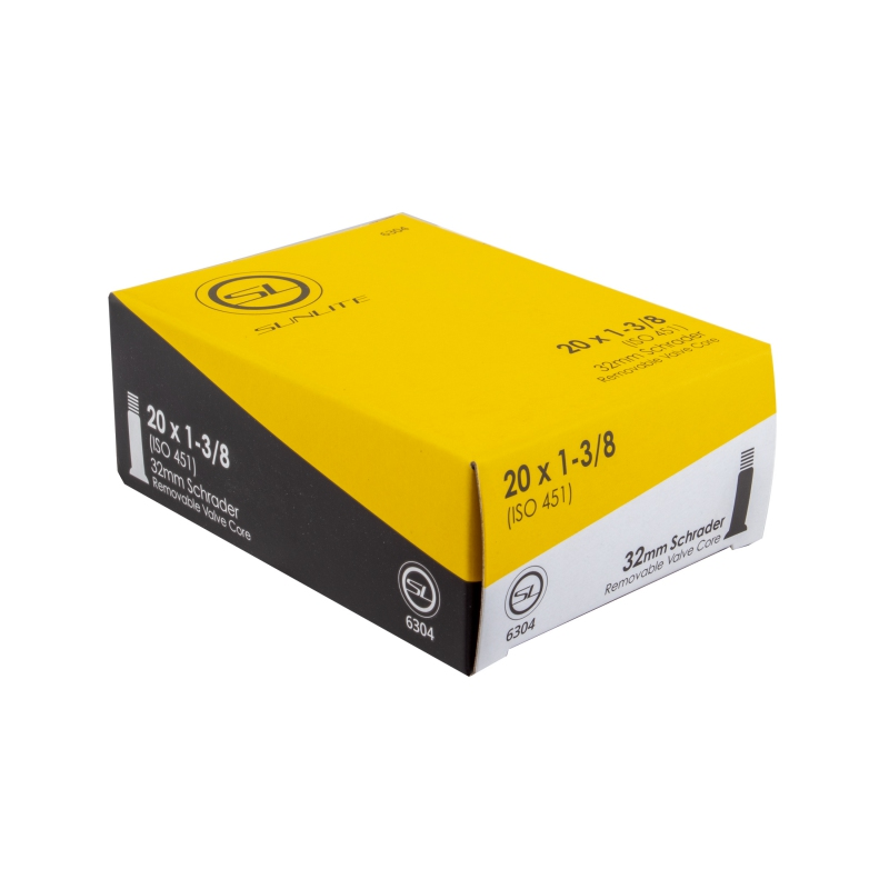 0D 32Mm 20X2.75-3.00 Sunlite Standard Schrader Valve Tubes Smooth Sv