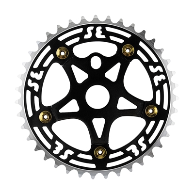 SE BIKES One Piece Alloy Chainring & Spider