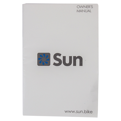 SUN BICYCLES Owners Manual